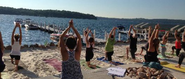 Yoga on the Beach Lake Geneva